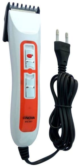 Nova NHC-3663 Beard & Hair Trimmer For Unisex (Orange)