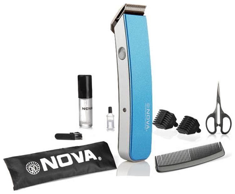 Nova Nht 1047 Mustache   beard trimmer For Men   Blue