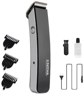 Nova Nht 1055 bl Mustache & beard trimmer For Men ( Black )