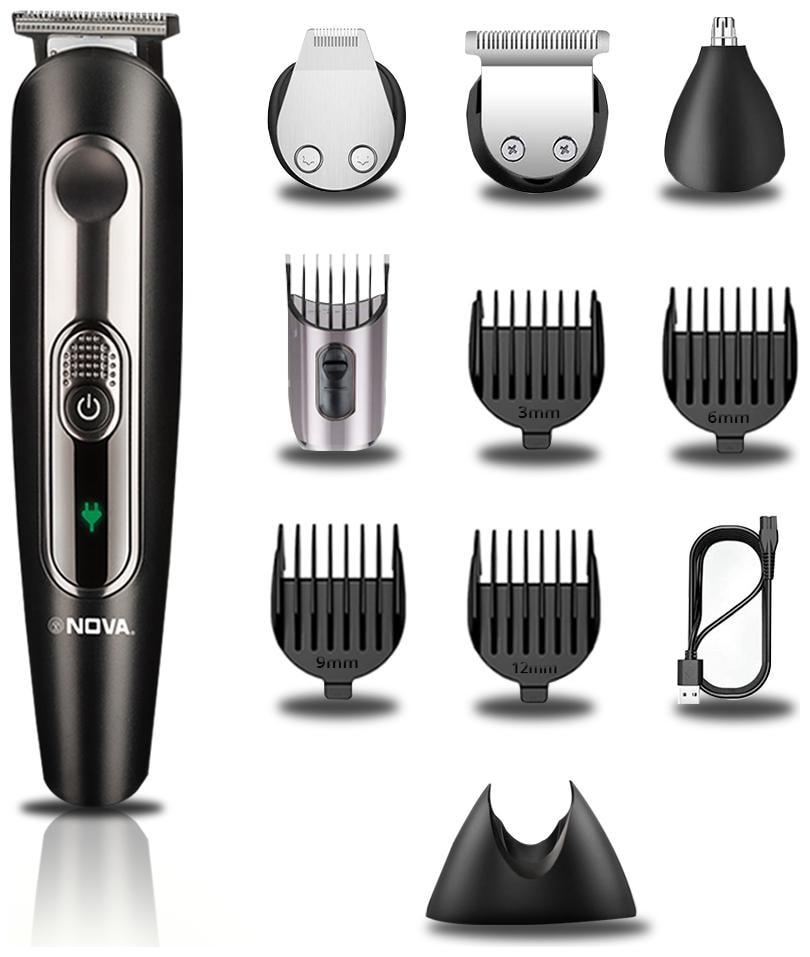 Nova NOVA NG 1149 Beard Trimmer For Men   Black , Rechargeable Battery   by Million Lights