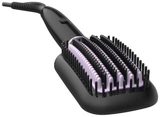 Philips Bhh880/10 heated straightening brush Hair Straightener ( Black )