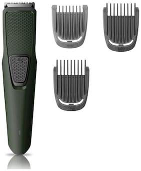 Philips BT1212/15 USB CHARGING CORDLESS RECHARGEABLE Mustache & Beard Trimmer For Men ( Green , Rechargeable Battery )