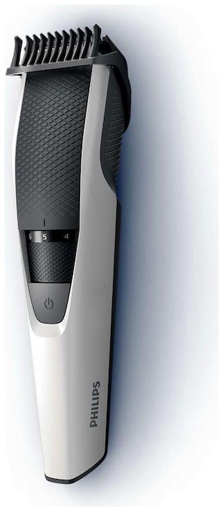 Philips BT3101/15 Beard & Moustache Trimmer For Men (White)