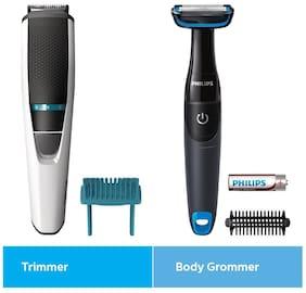 Philips Bt3203/85 Mustache & beard trimmer For Men ( White )