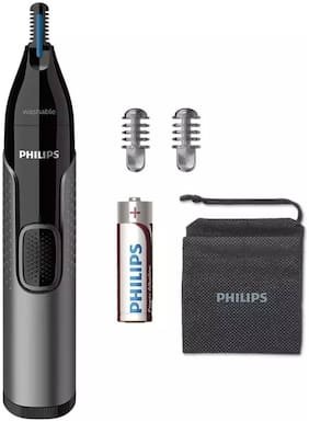 Philips NT3650/16 Nose & Ear Trimmer For Men ( Grey , AA Battery )
