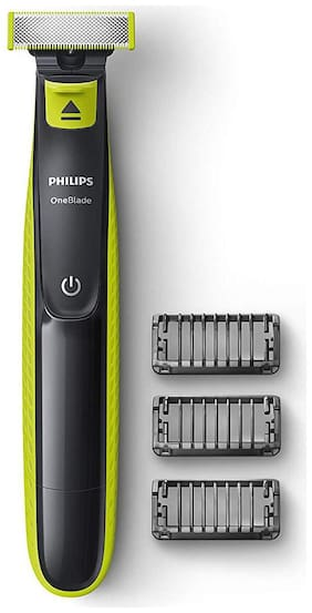 Philips QP2525/10 ONEBLADE HYBRID Multi-Function Trimmer For Men ( Black & Green , Rechargeable Battery )