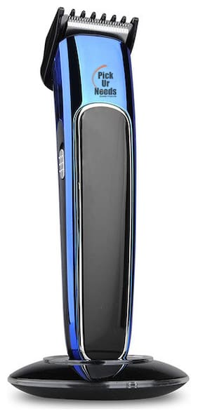 Pick Ur Needs Rocklight Beard Trimmer Cordless with Quick Charge and Comb Adjustment for Men (Black;Blue)