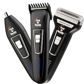 Pick Ur Needs 9076 Grooming Kit For Men ( Black , Rechargeable Battery )