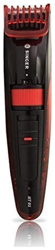 Singer Ht01 Rechargeable Beard Trimmer (Black & Red)