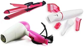 Spineer  2 IN 1 Hair Straightener & Curler, 1000 W Hair dryer And Hair Trimmer For Women