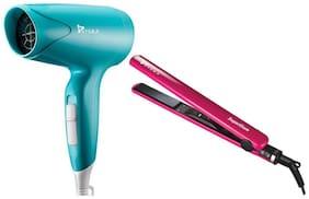 Syska HD1600 & HS6810 1000 W Hair Dryer ( Green & Pink )