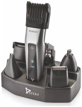 Syska Ht3052k Hair clipper For Men ( Black & Silver )