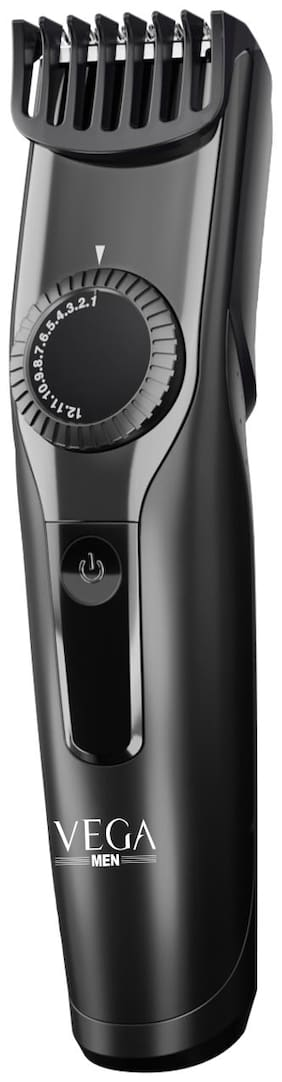 Vega T-1 Cordless & USB Charging Beard & Hair Trimmer For Men (VHTH-18, Black)