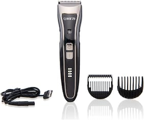 Wurze WZ-1904 Wet & Dry Cordless Electric Beard & Hair Trimmer for Men (Black)