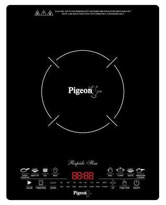 Pigeon Rapido Slim 2100 W Induction Cooktop (Black)