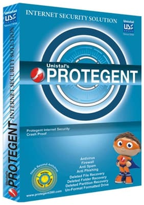 Protegent Internet Security (1 PC/1 Year)-Worlds only Internet Security with Data Recovery Software