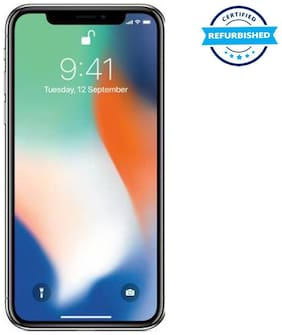 Refurbished Apple iPhone X 64 GB Silver  (Grade: Excellent)