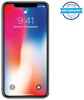 Refurbished Apple iPhone X 64 GB Space Grey  (Grade: Excellent)