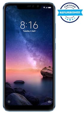 Refurbished Redmi Note 6 Pro 4 GB 64 GB Blue  (Grade: Excellent)