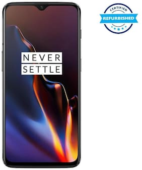 Refurbished Oneplus 6T 8GB 128GB Mirror Black  (Grade: Good)