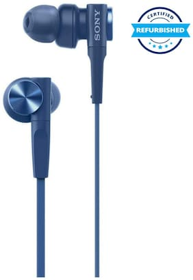 Used Sony MDR-XB55 Extra-Bass Earphones Without Mic (Blue) (Grade: Excellent)