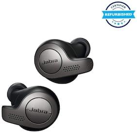 Used Jabra Elite Active 65T Alexa Enabled True Wireless Sports Earbuds, 15 Hours Battery, Titanium Black, Designed In Denmark (Grade Excelllent)