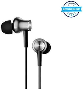 Refurbished Mi Earphones with Dynamic bass, Music Control and mic - Silver (Grade: Excellent)