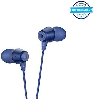 Used JBL C50HI in-Ear Headphones with Mic - Blue (Grade: Excellent)