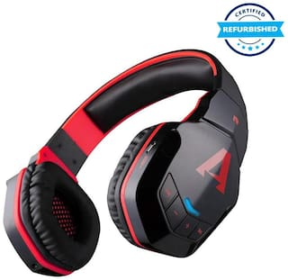 Refurbished boAt Rockerz 510 Bluetooth Over-Ear Headphone with Mic (Black;Red)