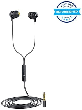Used Infinity Zip 20 in-Ear Deep Bass Headphones with Mic - Charcoal Black (Grade: Excellent)