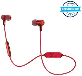 Refurbished JBL E25BT Signature Sound Wireless in-Ear Headphones with Mic - Red (Grade: Excellent)