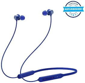 Refurbished OnePlus Bullets Wireless Z Bass Edition Bluetooth Headset (Bass Blue)