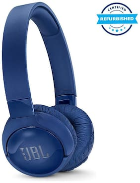 Refurbished JBL Tune 600 BTNC On-Ear Wireless Bluetooth Noise Canceling Headphones - Blue (Grade: Excellent)