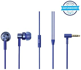 Used Redmi by Mi Hi-Resolution Audio Wired Headset (Blue, In the Ear) (Grade: Excellent)