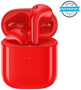 Used Realme Buds Air Neo Bluetooth Headset (Red, True Wireless) (Grade Excelllent)