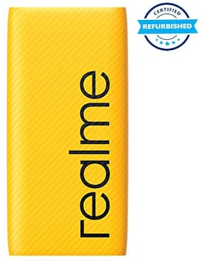 Used  Realme 10000 Mah Power Bank (Fast Charging, 30 W)- Yellow (Grade: Excellent)