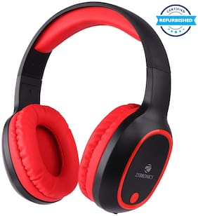 Refurbished Zebronics Zeb-Thunder Wireless Bluetooth Headphone Red (Grade: Excellent)