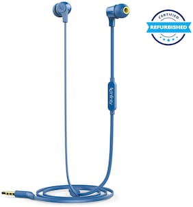 Used Infinity Zip 100 in-Ear Immersive Bass Tangle Free Flat Cable Headphones Mystic Blue (Grade: Excellent)