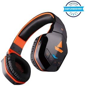 Used boAt Rockerz 510 Bluetooth On-Ear Headphone with Mic -Orange (Grade: Brand Certified)