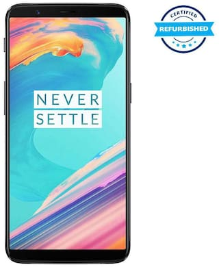 Refurbished OnePlus 5T 6 GB 64 GB Midnight Black  (Grade: Excellent)