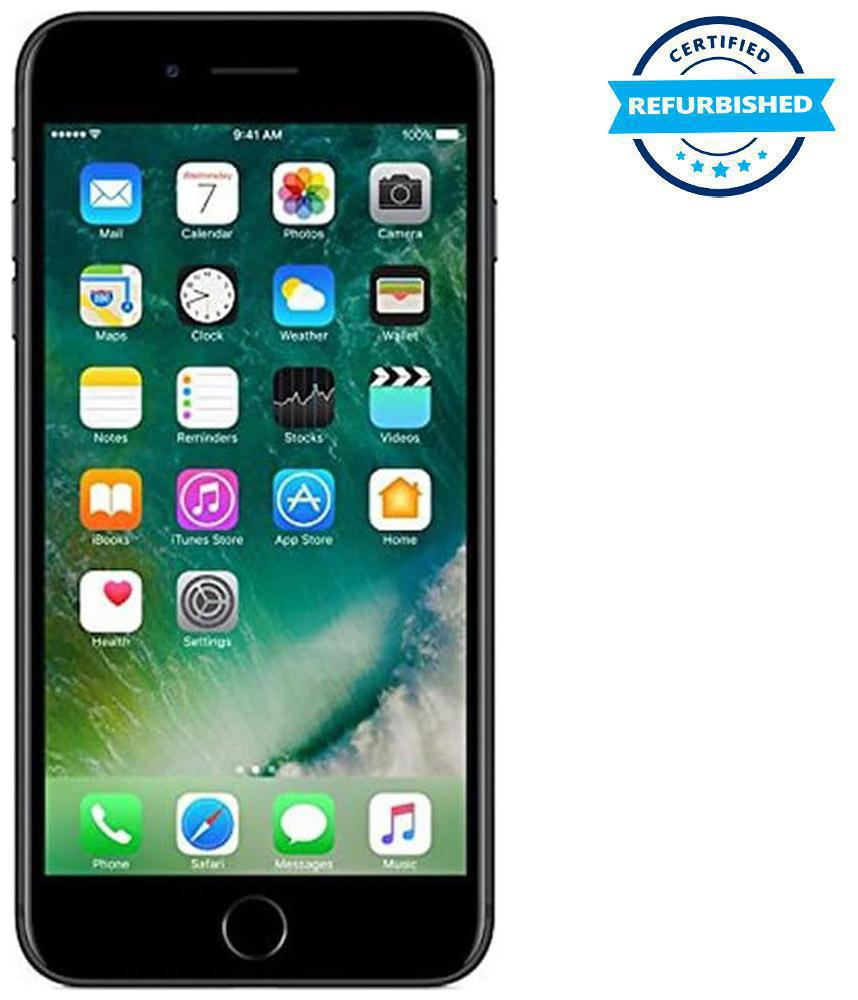 Refurbished Apple iPhone 7 plus 3 GB 128 GB Black (Grade: Excellent)