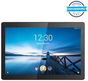 Refurbished Lenovo Tab M10 FHD REL Tablet (10.1-inch  2 GB  32 GB  Wi-Fi + LTE + Volte Calling) Black (Grade: Like New)