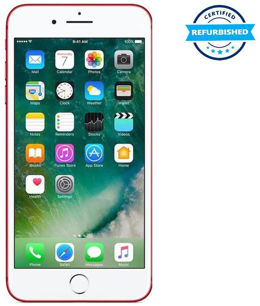 Refurbished Apple iPhone 7 plus 3 GB 128 GB Red (Grade: Excellent)