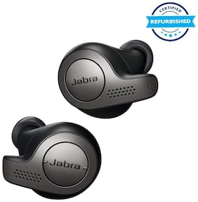 Used Jabra Elite 65t Alexa Enabled True Wireless Earbuds with Charging Case, 15 Hours Battery,Titanium Black, Designed in Denmark (Grade: Excellent)