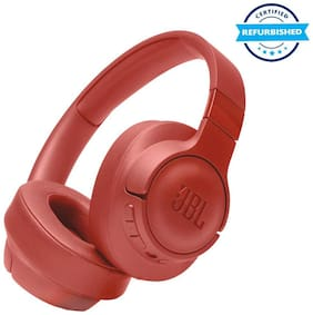 Used JBL Tune 750BTNC Over Ear Headphones with Mic (Coral) (Grade: Excellent)