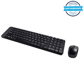Used Logitech MK220 Wireless Mouse and Keyboard Combo (Black) (Grade: Excellent)