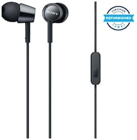 Used Sony MDR-EX150AP In-Ear Wired Earphone (Black) (Used : Excellent)
