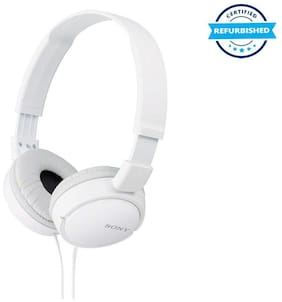 Used Sony MDR_ZX110A On-Ear Stereo Headphones without mic - White (Grade: Excellent)
