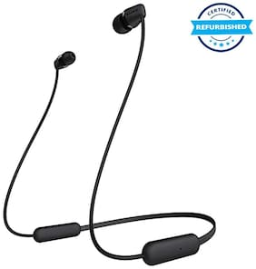 Used Sony WI-C200 In-Ear Earphones with Mic (Black) (Grade: Excellent)