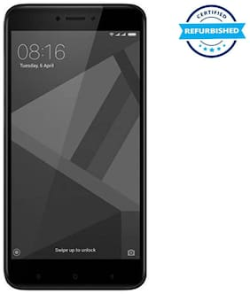 Refurbished Xiaomi Redmi 4 3 GB 32 GB Black  (Grade: Good)